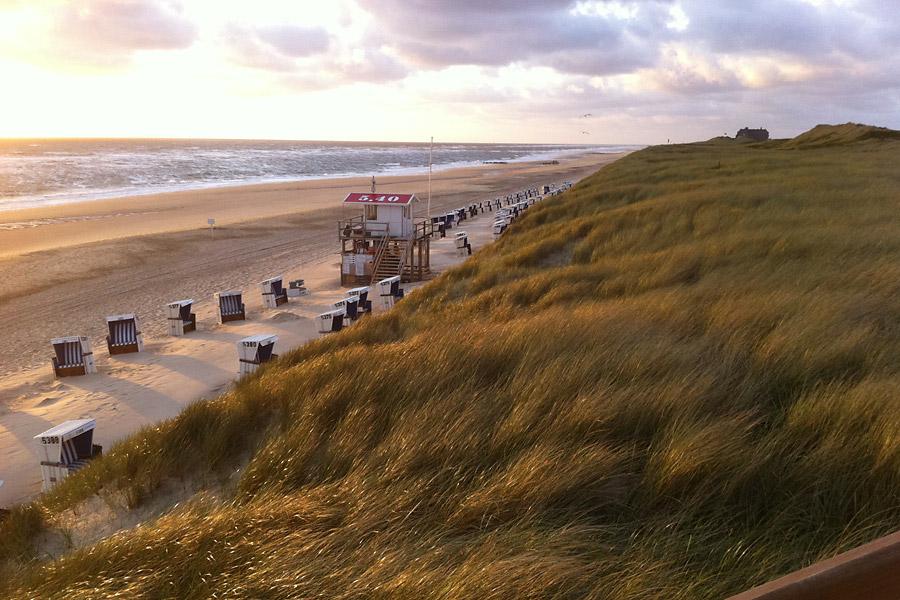 Blick auf Rantum Strand